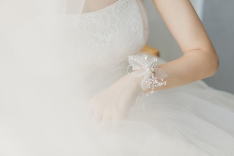中國代購 中國批發-ibuy99 新娘手腕花结婚搭配婚纱仙气高级感姐妹伴娘团小清新高档手花胸花
