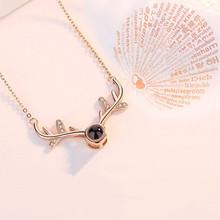 一鹿有你项链女吊坠爱的记忆纯银项链女礼物