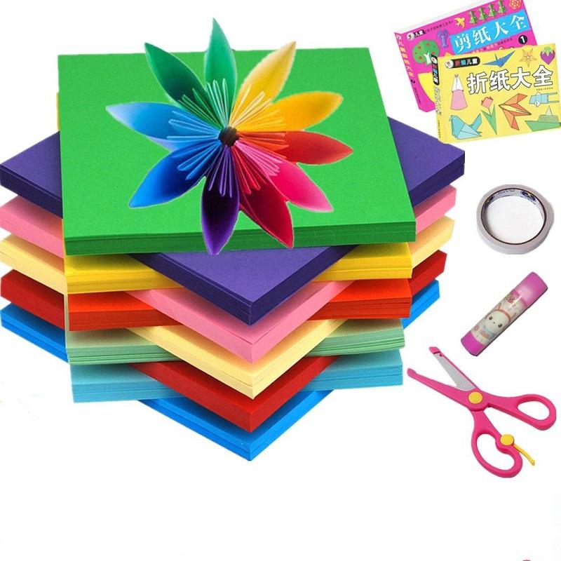 折纸手工纸软卡纸儿童美术课手工纸A4大号折纸正方形彩纸折纸材料