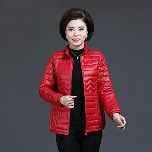2020冬季新款中老年外套女士棉衣妈妈装短款羽绒棉服棉袄冬装轻薄