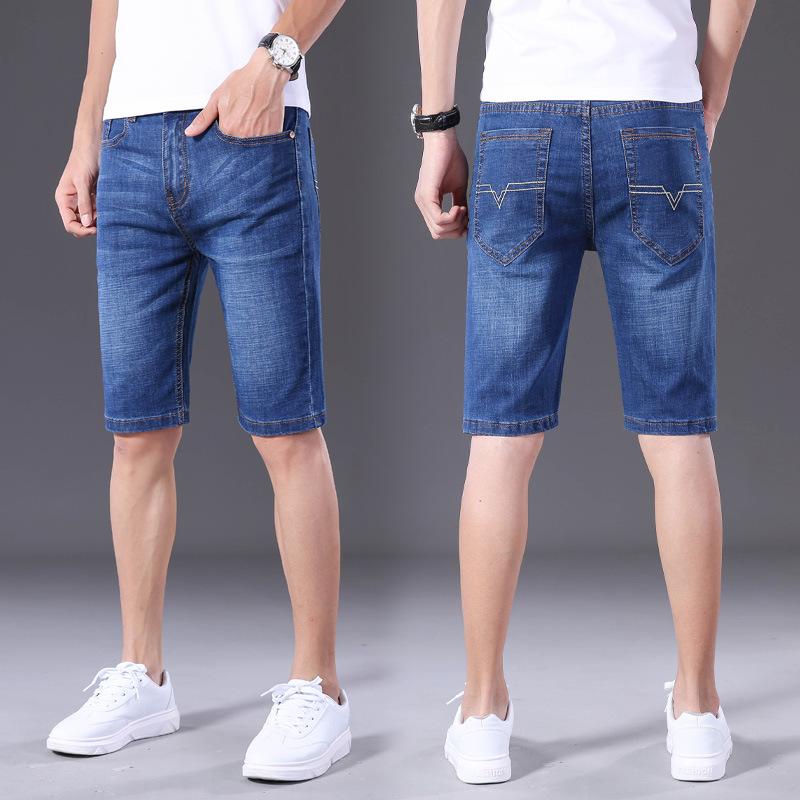 男士春夏季牛仔短裤休闲裤五分裤运动男裤