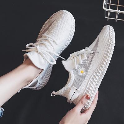 2021春季新款透气小雏菊网布运动潮鞋女老爹小白鞋百搭跑步运动潮