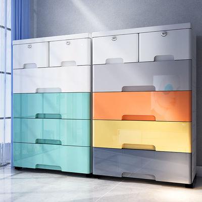 大号抽屉式收纳柜塑料多功能整理柜婴儿童衣柜收纳五斗鞋柜收纳箱