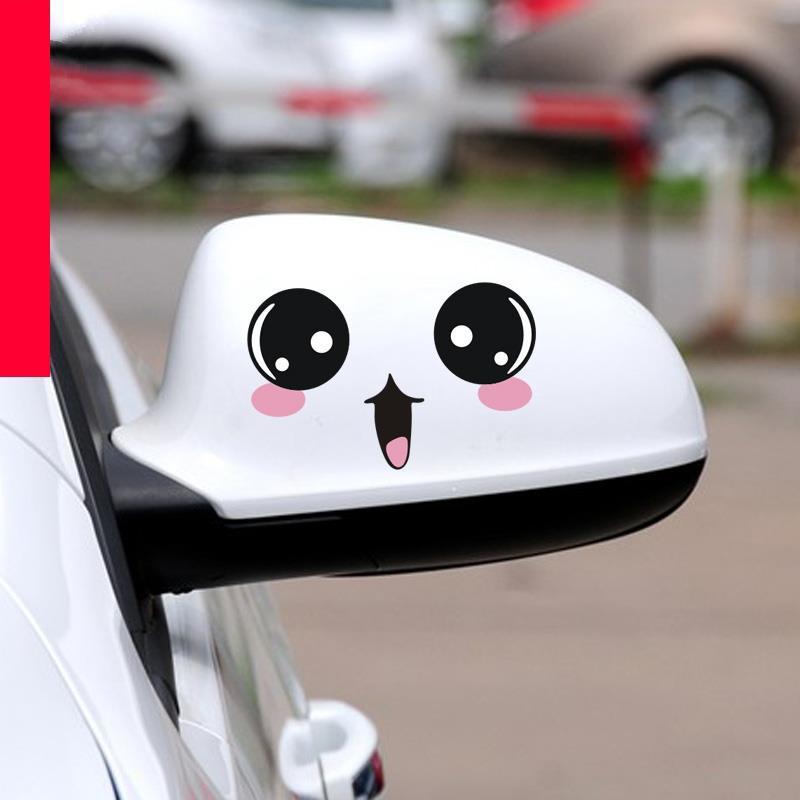 车贴汽车装饰贴纸卡通可爱后视镜创意个性文字车身网红划痕遮挡