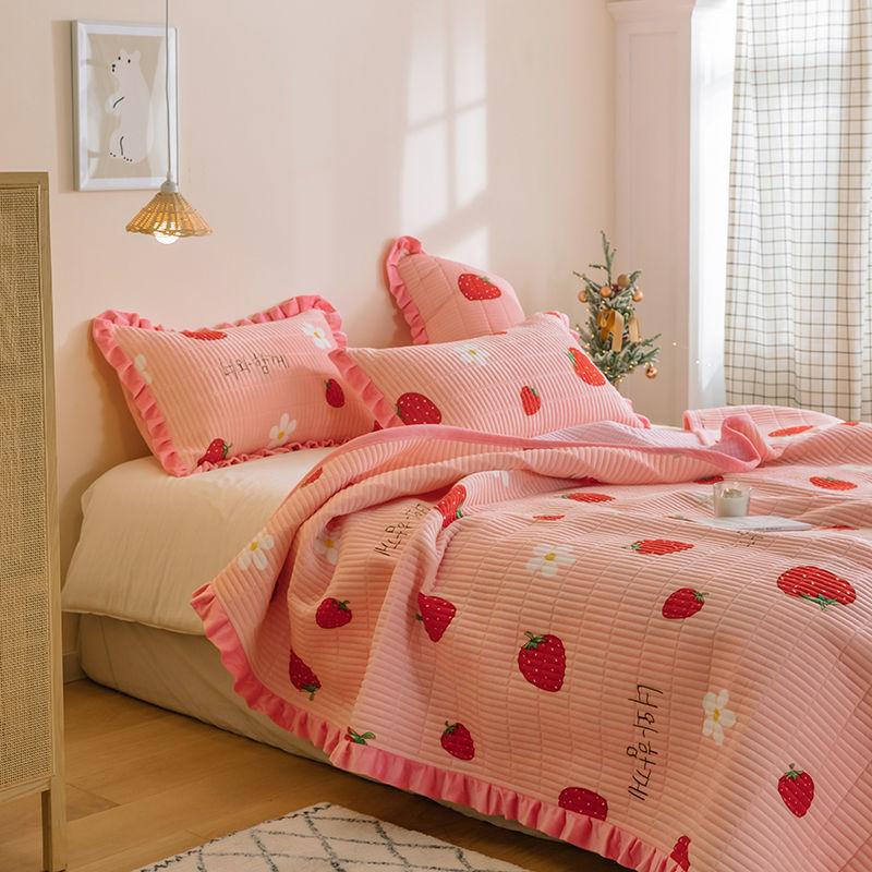 升升/水晶绒床单单件炕单榻榻米床罩