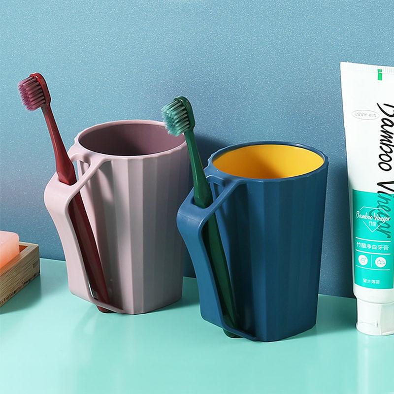 带手柄刷牙杯简约家用洗漱杯情侣创意ins风漱口杯儿童可爱牙缸