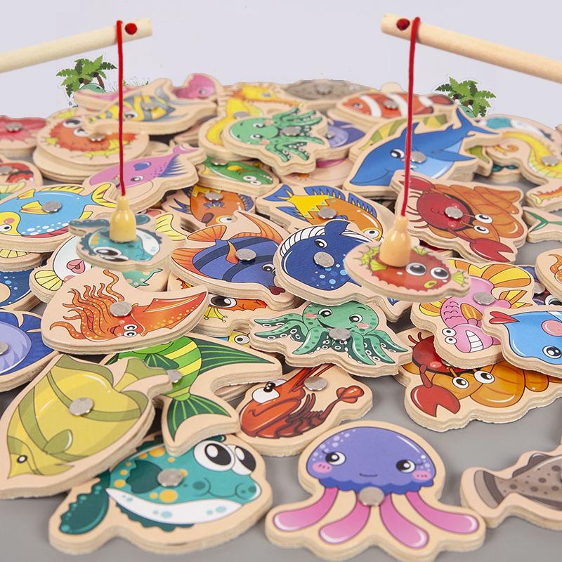 宝宝钓鱼玩具多功能磁性儿童