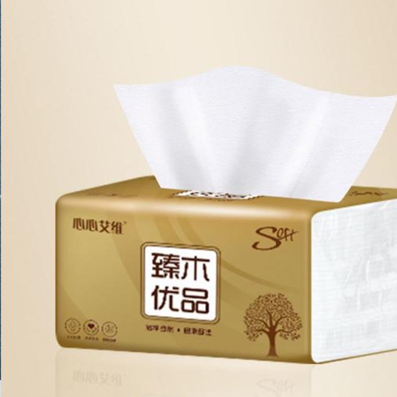 原木抽纸家用批发卫生纸巾抽纸整箱餐巾纸抽