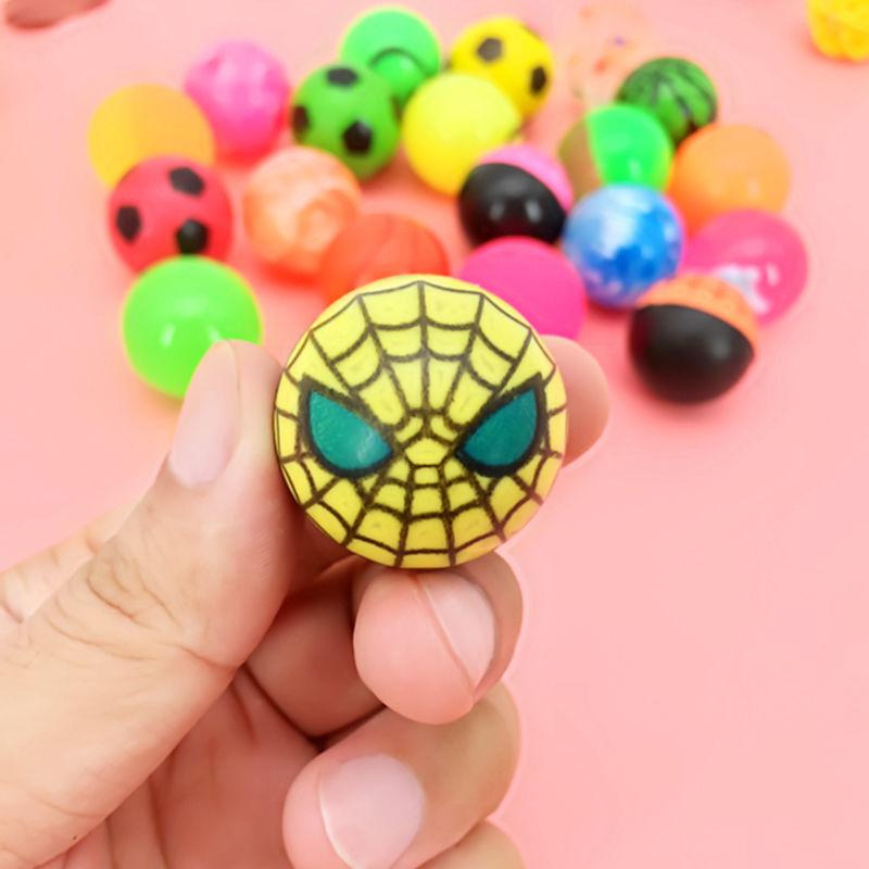 儿童发光弹力球扭蛋机奖品弹力球夜光弹弹球