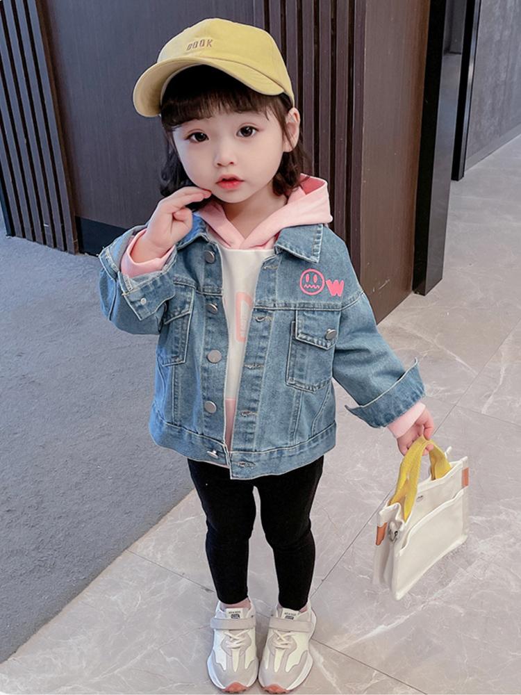 女童牛仔外套春秋季上衣洋气宝宝休闲外套