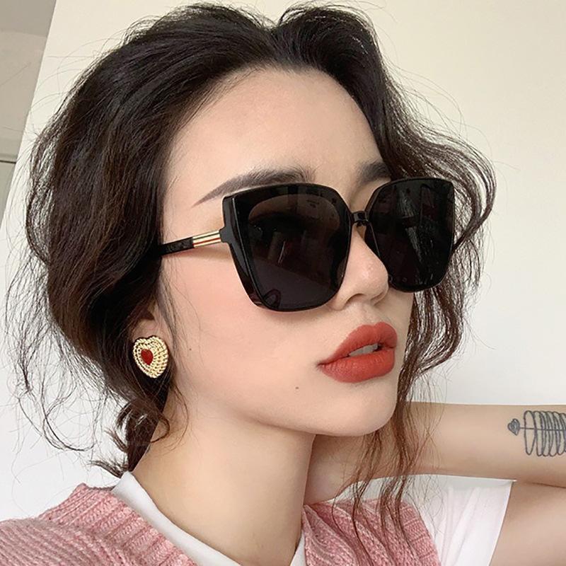 FbzK2021新款方框太阳镜大脸欧美潮流墨镜女复古网红眼镜大脸