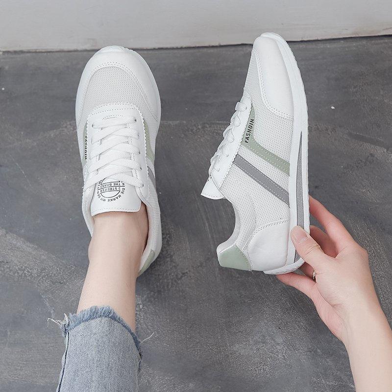 网面阿甘鞋女2021年夏季新款休闲鞋运动鞋小白鞋韩版百搭平底板鞋