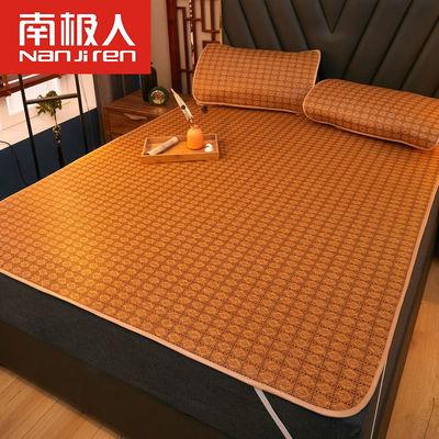 夏季凉席藤席1.8m床双人1.5米草席冰丝席可折叠1.2单人席子