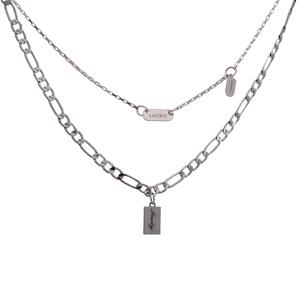 【七夕礼物】简约双层叠戴锁骨链项链