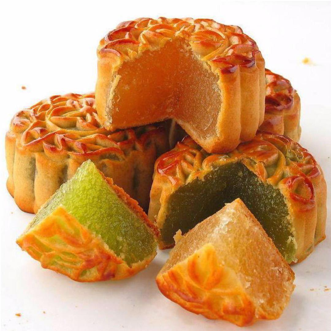 水果月饼凤梨哈密瓜草莓水蜜桃广式五仁月饼多口味