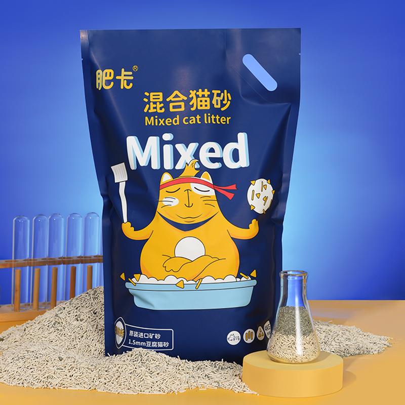 肥卡1.5mm进口矿土混合猫砂4kg