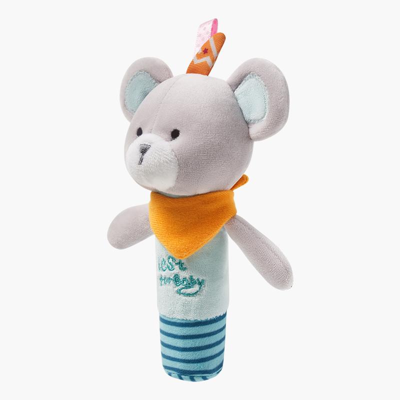 亲宝宝婴儿安抚玩具发声摇铃安抚棒毛绒玩偶宝宝响铃手拿棒