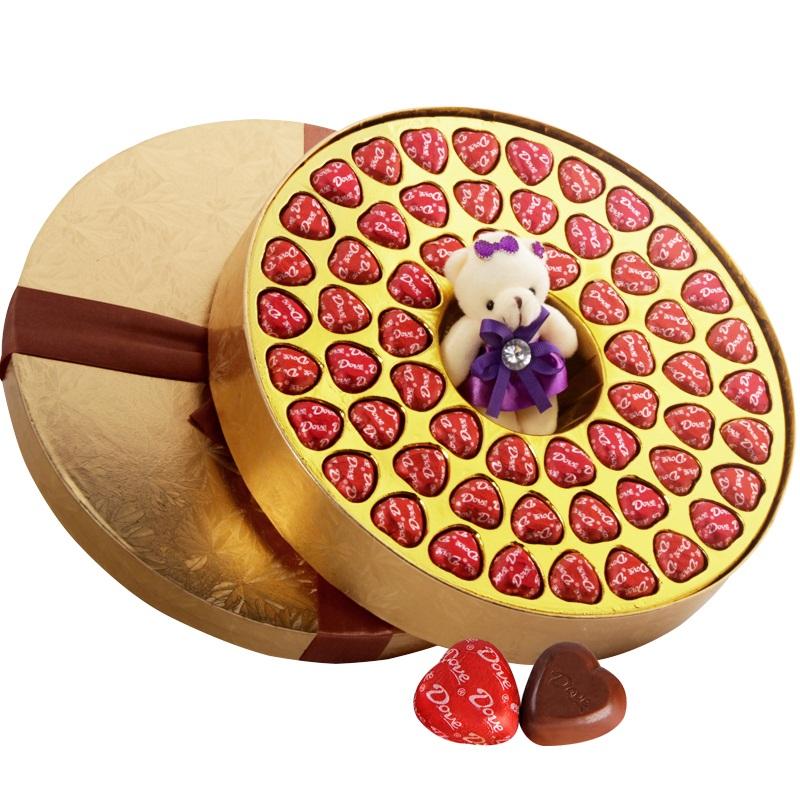 德芙夹心巧克力58粒礼盒装儿童节情人节送女友520表白生日礼物