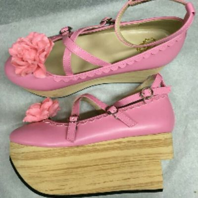 taobao agent Spot BL Japanese wood grain pine high platform Lolita shoes new products female shoes single shoes straps