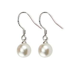 精致超仙韩国纯银珍珠短款耳环女