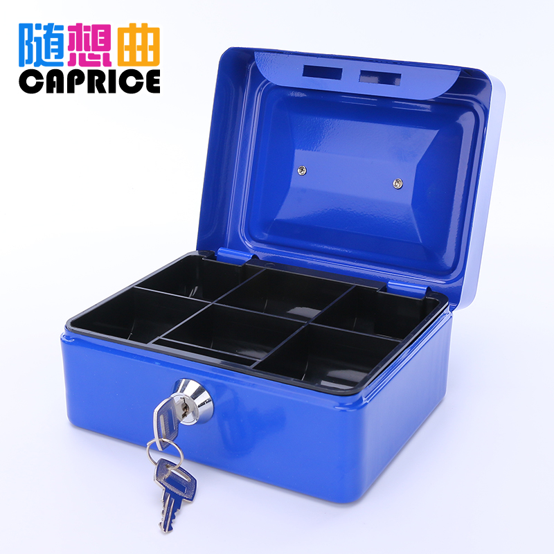 Lockable Storage Box Password Box Tin Box Cash Box Cash Box Box Small  Storage Desktop Storage