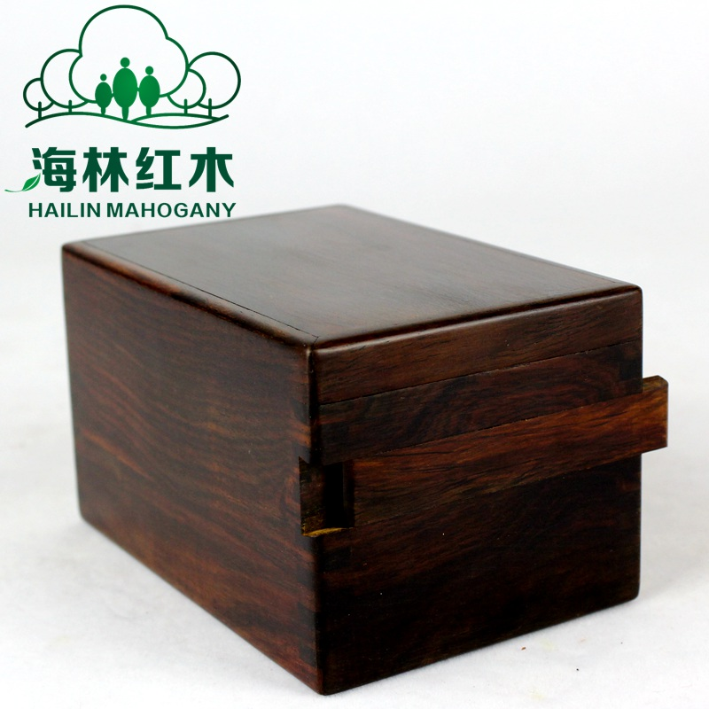 USD 2671 Mahogany craft jewelry box organ box real wood vintage