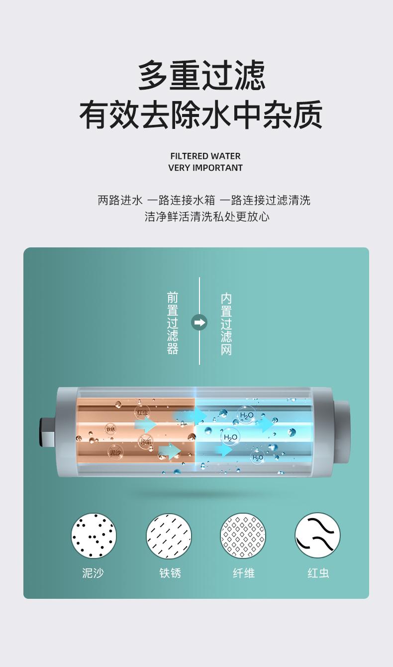 德森蒂威一体式全自动语音翻盖智能马桶无水压限制泡沫盾防溅水详细照片