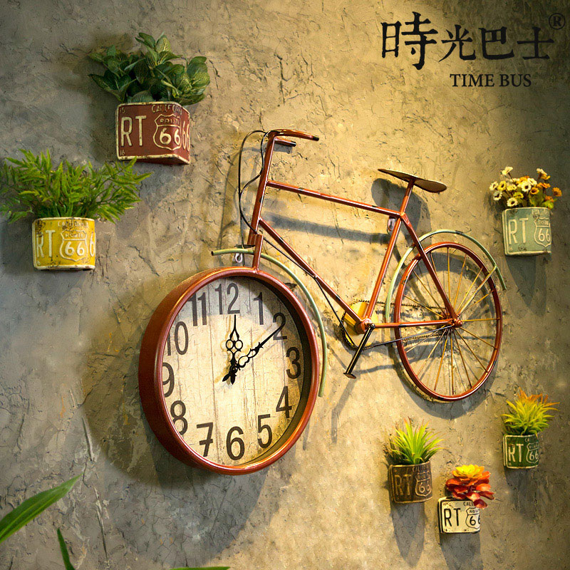 Vintage wrought iron bicycle wall hanging creative kindergarten shop ...