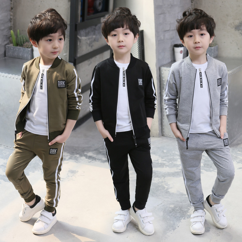 4ba720a62 Children's clothing boys spring Set 2019 New children's sports two-piece  children's spring and autumn clothes 7 Korean version of the 9-year-old Tide