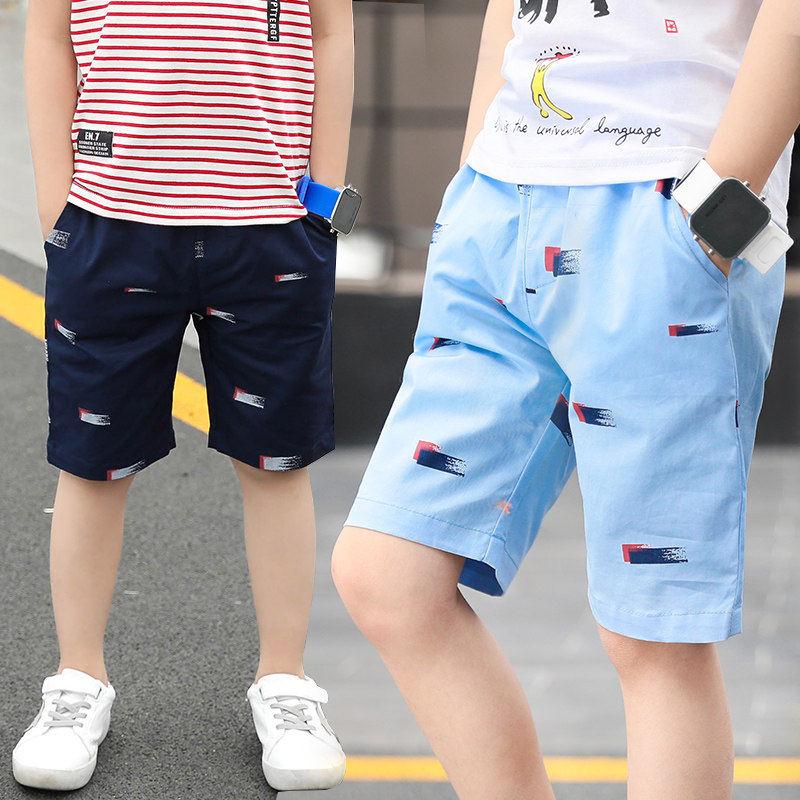 男童短褲外穿夏季薄款五分褲潮15兒童短褲純棉洋氣12中大童休閑褲