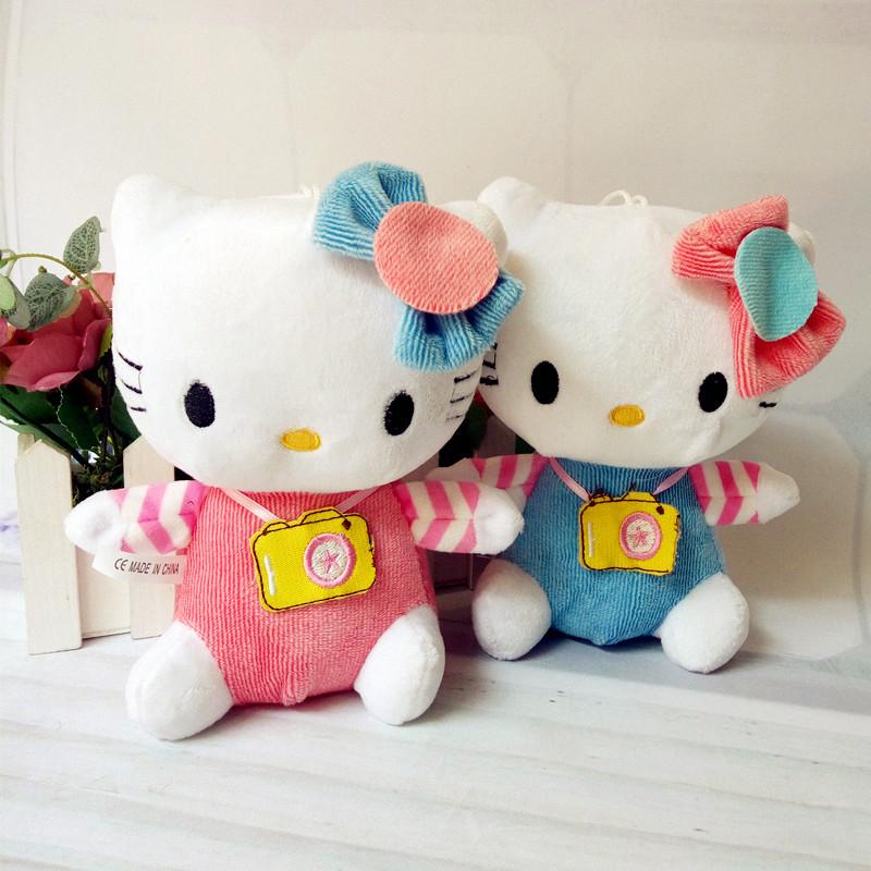 可爱情侣HelloKitty公仔猫咪相机KT猫婚庆毛绒玩具创意圣诞节礼物