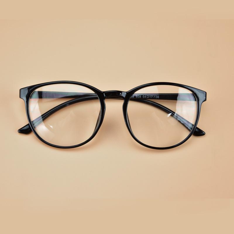韩版复古超轻近视眼镜框架男女款成品平光镜配眼睛有度数框防辐射