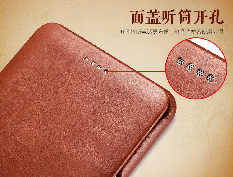 iCarer Curved Edge Vintage Series Side Open Handmade Genuine Cowhide Leather Case Cover for Samsung Galaxy Note 7