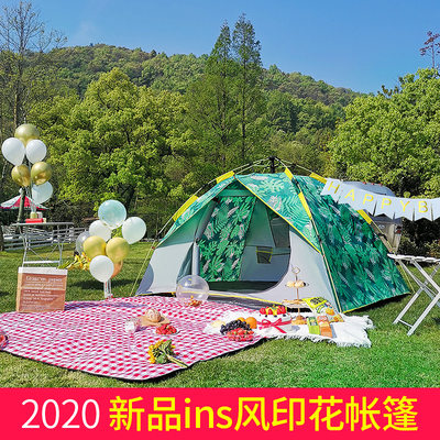 Explorer automatic tent outdoor children's indoor rainstorm-proof thickened rainproof ultra-lightweight camping outdoor camping