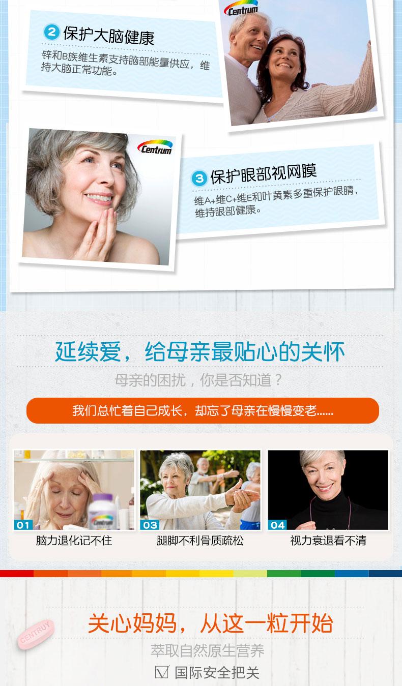 美版 善存 中老年女士 复合维生素200粒大罐装 图3