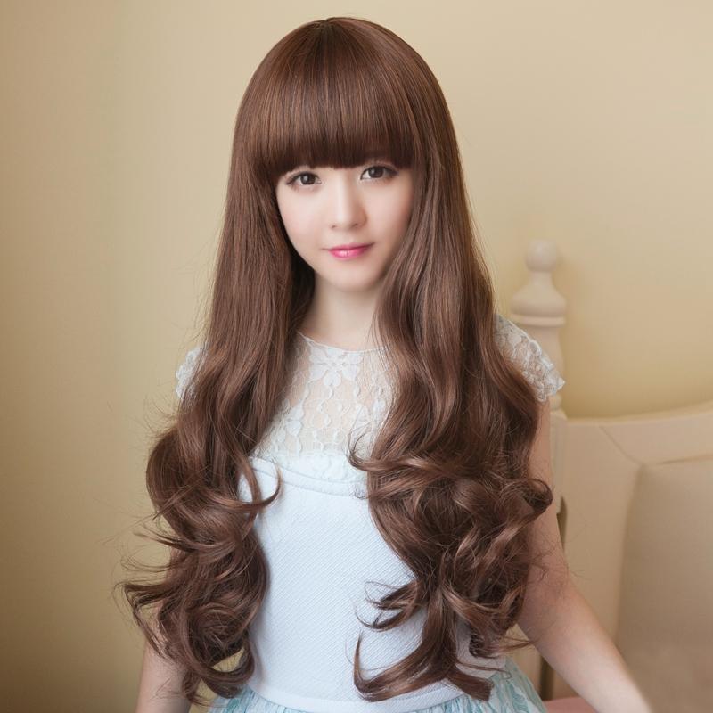 Usd 47 43 Wig Female Long Curly Hair Qi Bangs Fashion