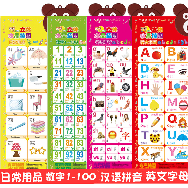 4 Sheets-daily Articles--numbers 1-100 --- Hanyu Pinyin--english Letters