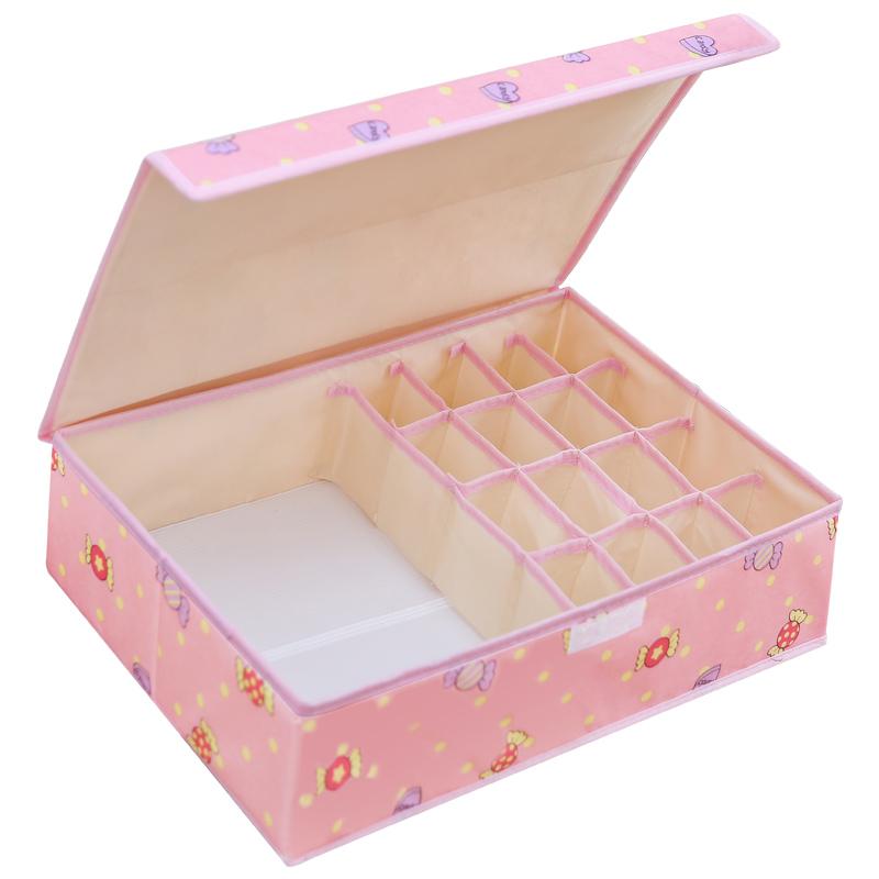 内衣收纳盒布艺家用整理箱收纳箱