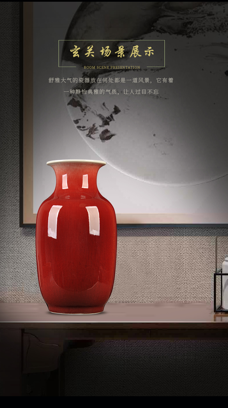 Ice to crack the vase of jingdezhen ceramics up ceramic bottle household decorates sitting room classical handicraft furnishing articles gifts