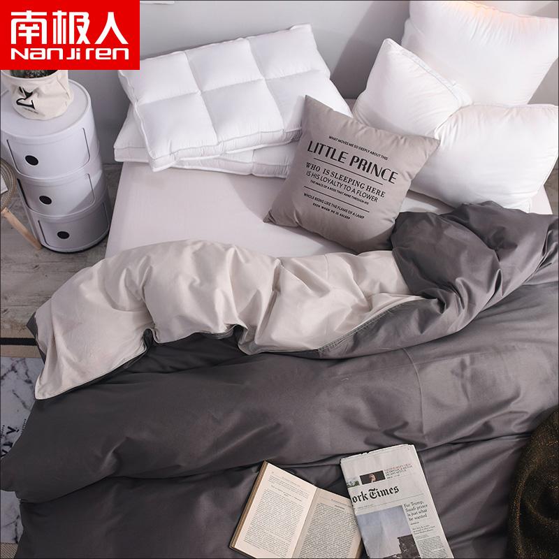 Южный полюс люди чистый хлопок цвет одеяло один чистый хлопок, двойной бойцовский цвет одеяло один студент двойной 1.5/1.8m кровать
