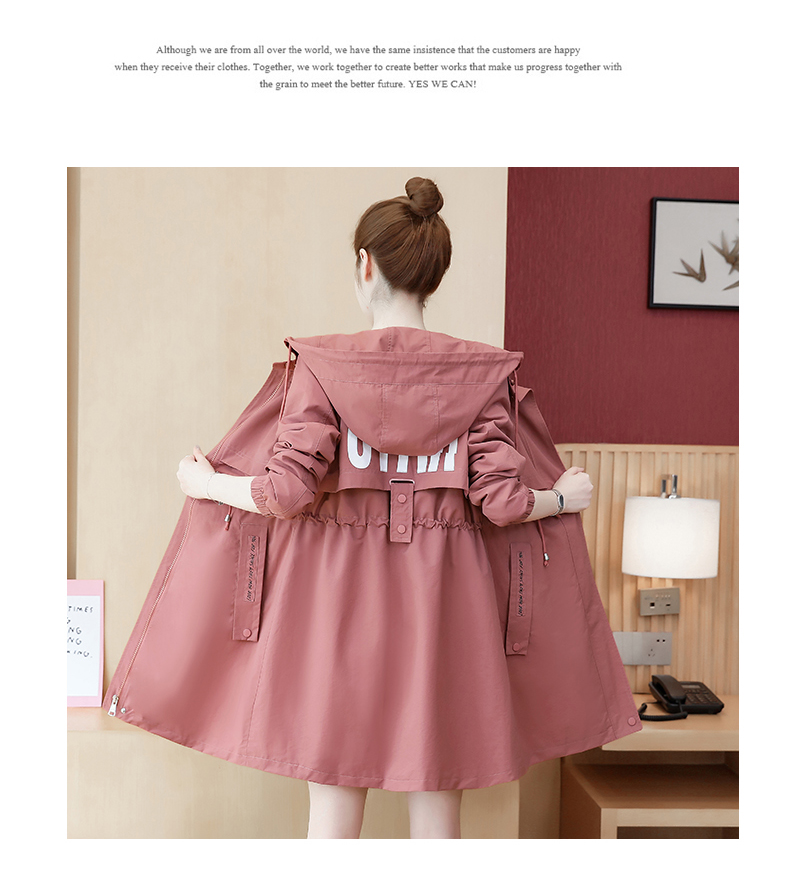 2020 Spring and Autumn new Korean version of the long-term waist fashion casual small man a hundred and Eight months windcoat jacket girl 56 Online shopping Bangladesh
