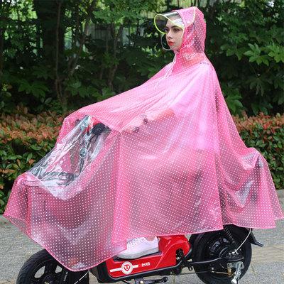 雨衣自行车男女款时尚单人轻型透明电动电瓶单车骑行学生防飘雨披