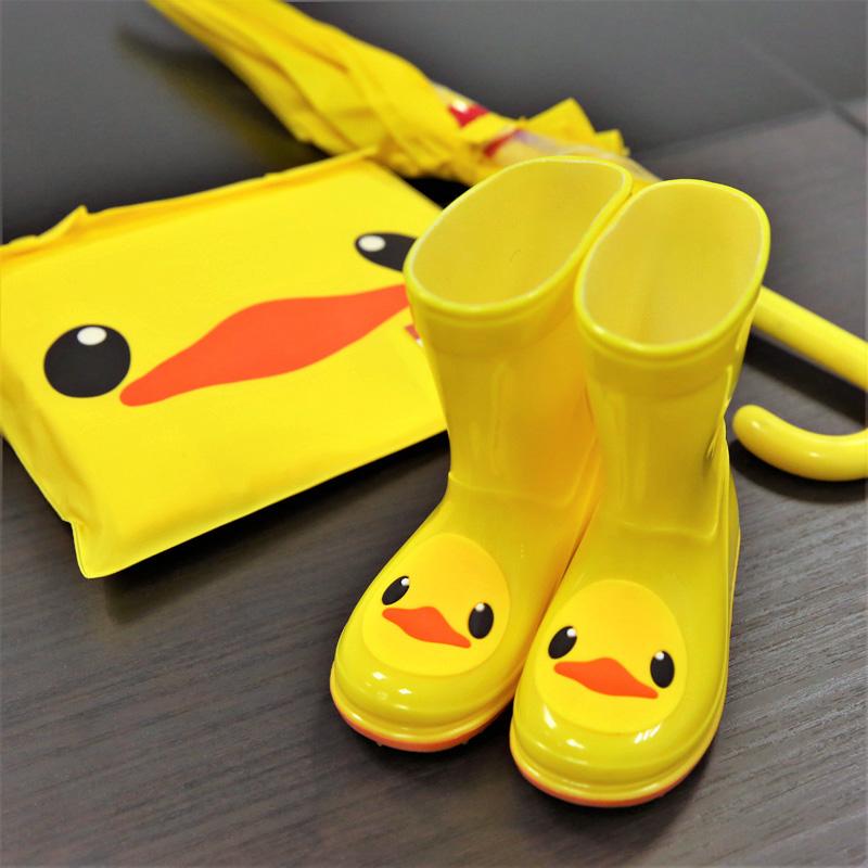 儿童雨鞋雨衣套装男童女童幼儿胶鞋小孩防滑水鞋小童学生宝宝雨靴