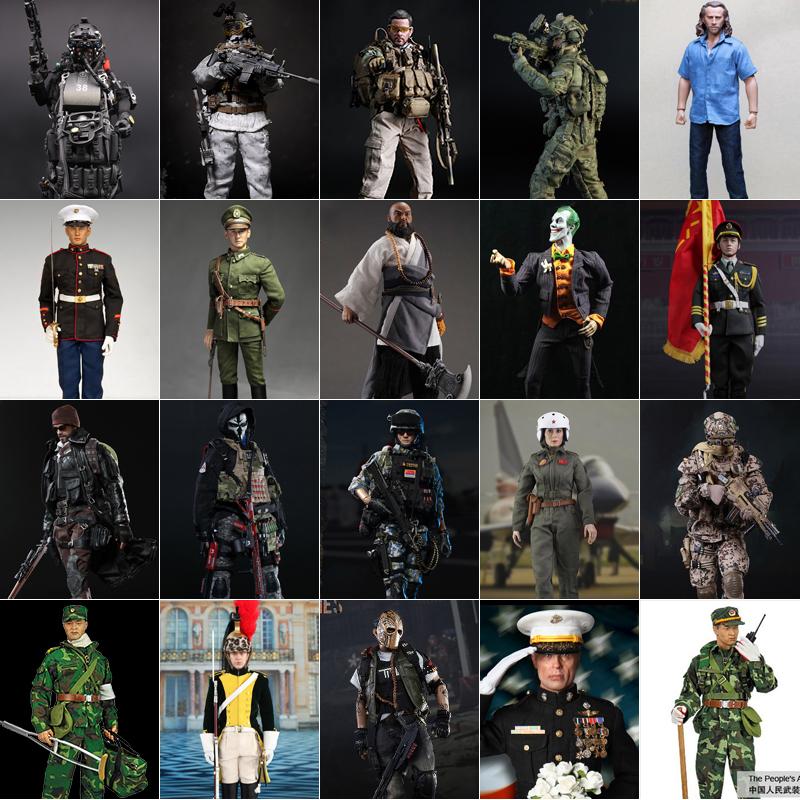 现货1/6兵人模套装型 吃鸡手办雪地海豹突击队成人男礼物军事模型