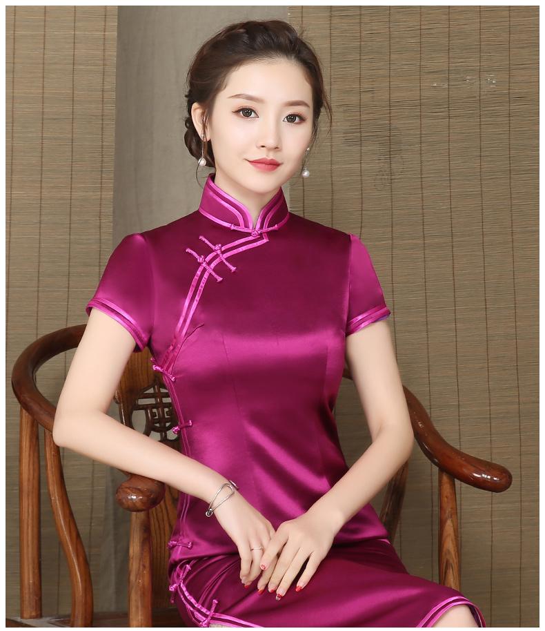 酒红缎面  高雅旗袍  (茶道音乐:高雅盛名*12首)- 津津的博客