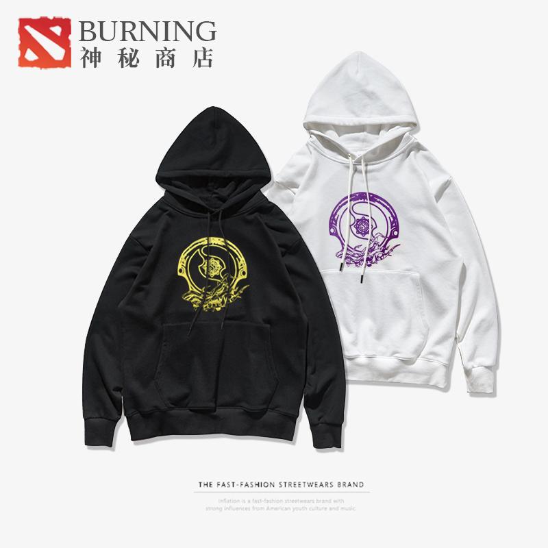 Burning男女DOTA2主题不朽盾刀塔男装情侣式连帽轻卫衣经典v男女