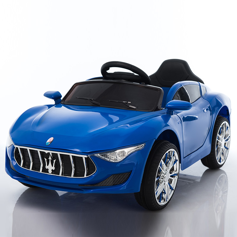 FOUR-WHEEL DRIVE PAINT BLUE: FULL-FEATURED + UPGRADED LITHIUM BATTERY  LEATHER SEAT + SWING + PUTTER