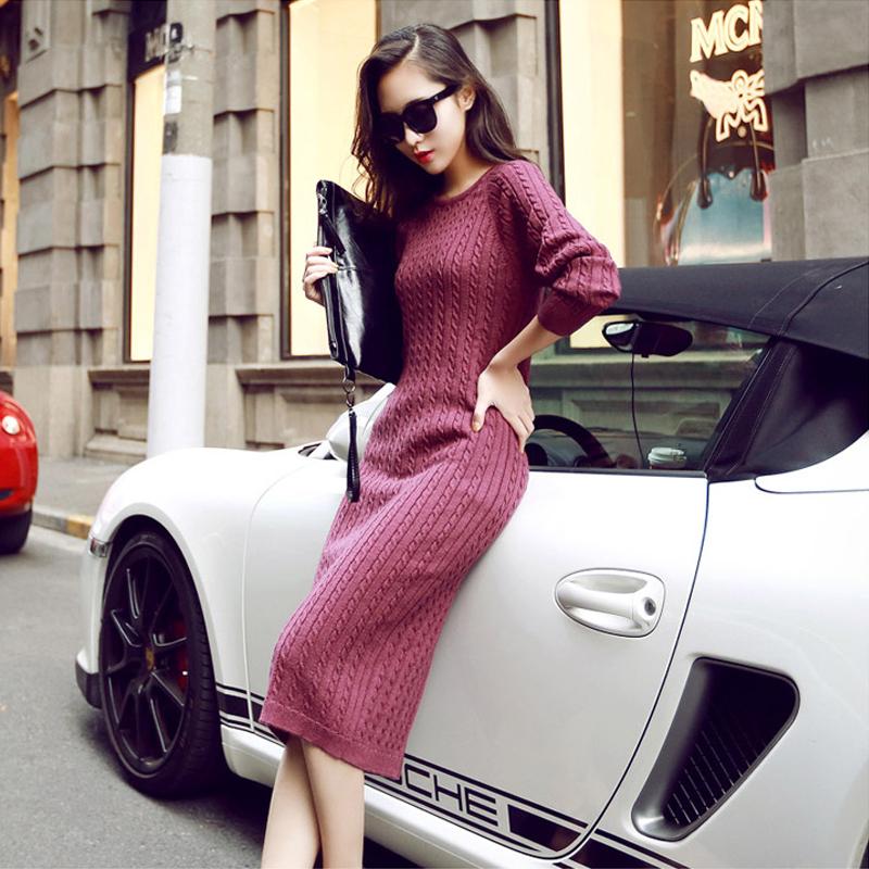 毛衣裙女<font color='red'><b>长</b></font>款秋冬款内搭2017新款
