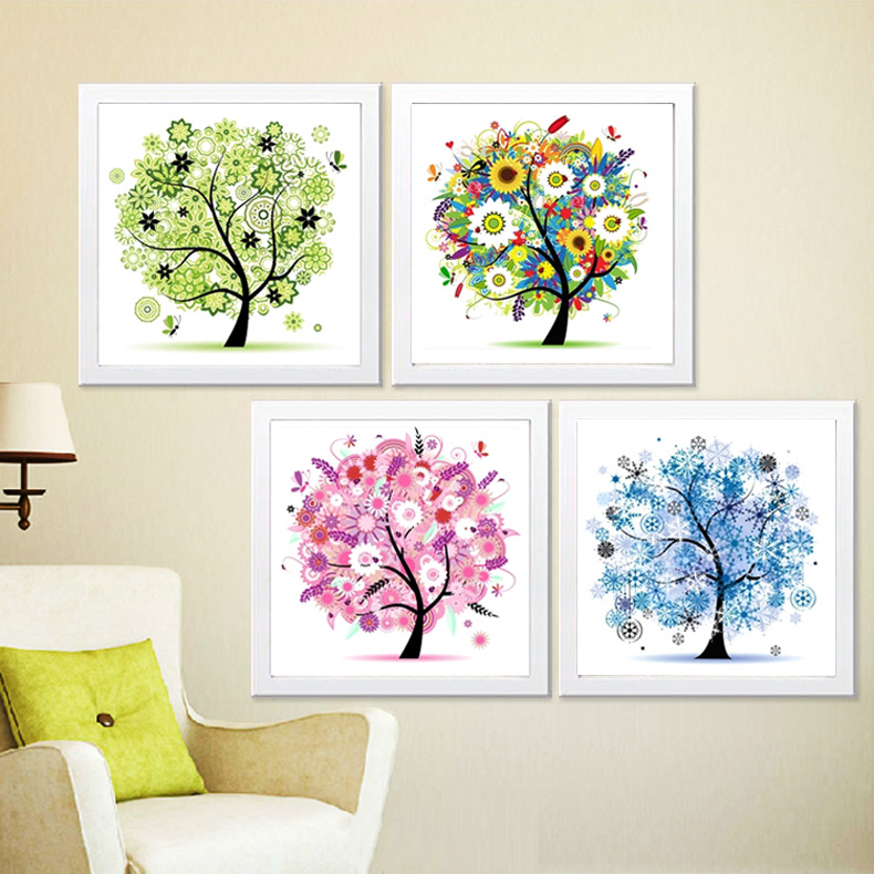 New 5D diamond painting 2019 living room spring and summer point sticky full diamond diamond show stick diamond cross stitch small small