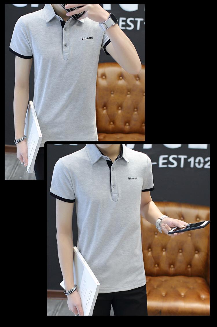 2018 mùa hè mới bông của nam giới Paul Polo áo sơ mi quần áo xu hướng cơ thể 桖 ve áo ngắn tay t-shirt áo thun nam tay ngắn có nón